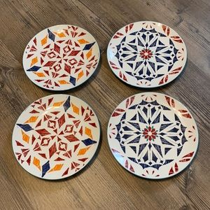 Kirklands Geometric Southwestern Design Plate Set
